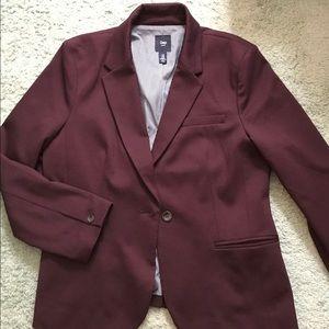 GAP Burgundy Classic Blazer Size 14